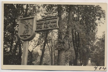 AK Foto Ihlienworth Wegweiser RAD Abteilung Wilder Jäger Wode 4/173 1935 RAR