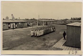 AK Foto Ihlienworth Baracken Appell RAD Abteilung Wilder Jäger Wode 4/173 1935 RAR