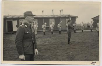 AK Foto Ihlienworth Baracke Appell RAD Abteilung Wilder Jäger Wode 4/173 1935 RAR