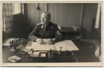 AK Foto Ihlienworth Soldat am Schreibtisch RAD Abteilung Wilder Jäger Wode 4/173 1935 RAR