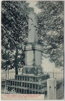 AK Hradec Králové Schlachtfeld bei Königgrätz 1866 Denkmal 6. Armee Tschechien 1910
