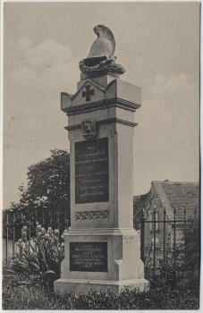 AK Probluz bei Hradec Králové Schlachtfeld bei Königgrätz 1866 Denkmal des Kgl. preuß. 8. Westfälischen Infant.-Reg. 57 Tschechien 1910