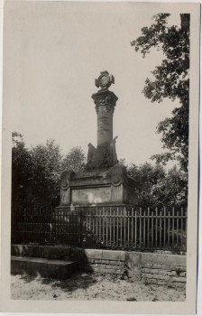 AK Foto Hradec Králové Schlachtfeld bei Königgrätz 1866 Denkmal des k. u. k. 51. Inf.-Reg. im Swibwald Tschechien 1931