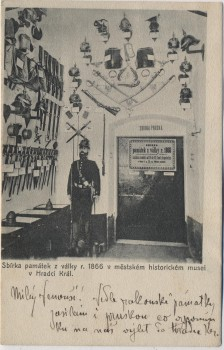 AK Hradec Králové Schlachtfeld bei Königgrätz 1866 Museum Innenansicht Tschechien 1915