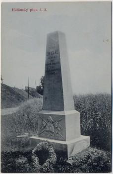 AK Hradec Králové Schlachtfeld bei Königgrätz 1866 Denkmal Eh. Carl 3. Ulanen Rgt. Tschechien 1910 RAR