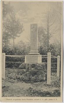 AK Hradec Králové Schlachtfeld bei Königgrätz 1866 Denkmal brigadnicka Karla Poeckha Tschechien 1914 RAR