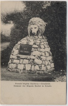 AK Dohalice bei Hradec Králové Schlachtfeld bei Königgrätz 1866 Denkmal der Brigade Knebel Tschechien 1910 RAR