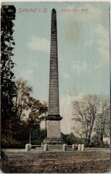 AK Schönhof in Böhmen Krásný Dvůr Obelisk Tschechien 1910