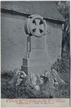 AK Vysokov Wysokow bei Náchod Schlachtfeld bei Königgrätz 1866 Denkmal der gefallenen Offiziere Tschechien 1910 RAR