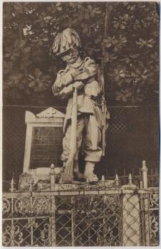 AK Hradec Králové Schlachtfeld bei Königgrätz 1866 Denkmal des k. u. k. Feldjäger-Bat. Tschechien 1922