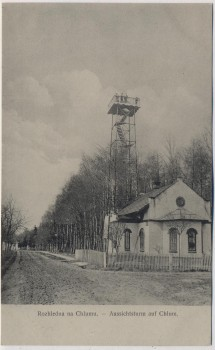 AK Bojiště u Hradec Králové Schlachtfeld bei Königgrätz 1866 Aussichtsturm auf Chlum Tschechien 1910