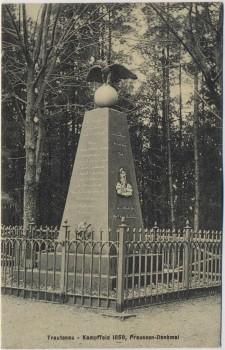 AK Trautenau Trutnov Preussen-Denkmal 1866 Böhmen Tschechien 1910 RAR