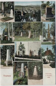 AK Mehrbild Trautenau Trutnov Denkmäler Schlachtfeld 1866 Böhmen Tschechien 1913