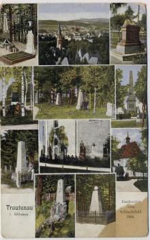 AK Mehrbild Trautenau Trutnov Denkmäler Schlachtfeld 1866 Böhmen Tschechien 1912