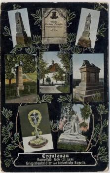 AK Mehrbild Trautenau Trutnov Denkmäler Schlachtfeld Kapelle 1866 Böhmen Tschechien 1910