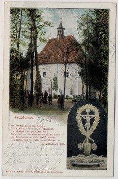 AK Trautenau Trutnov Kapelle 1866 mit Kruzifix Böhmen Tschechien 1905