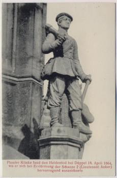 AK Düppel Dybbøl Sogn Düppel-Denkmal Pionier Klinke 1864 Nordschleswig Dänemark 1920