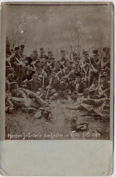 AK Foto Vejle Hessen-Infanterie Schlacht 1864 Dänemark 1900 RAR