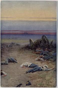 AK Gemälde Hradec Králové Schlachtfeld bei Königgrätz 1866 Tschechien 1910