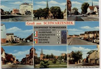 AK Mehrbild Gruß aus Schwarzenbek in Schleswig-Holstein Straßenansichten 1970