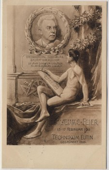 Künstler-AK Technikum Eutin in Ostholstein Jubiläumsfeier 1913 RAR