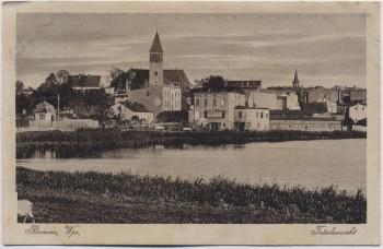 AK Briesen Wąbrzeźno Totalansicht See mit Kirche Westpreußen Polen 1917