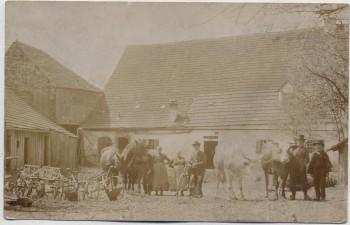 VERKAUFT !!!   AK Foto Wappersdorf bei Ursensollen Hausansicht mit Menschen Oberpfalz 1916 RAR