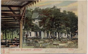 AK Hamburg Gruss aus Bergedorf Billthal Garten 1905