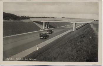 AK Foto Opladen Leverkusen Autobahn mit Brücke und Autos 1933 RAR