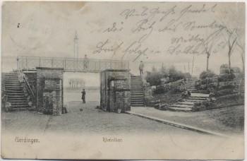 AK Uerdingen Rheintor mit Menschen 1904