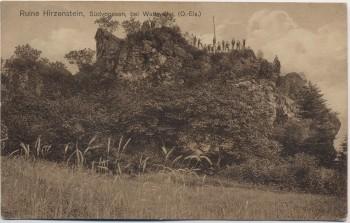 AK Ruine Hirzenstein Südvogesen bei Wattweiler Haut-Rhin Elsass Frankreich 1914