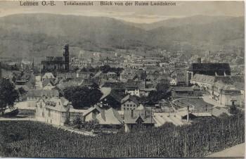 AK Leimen Leymen Totalansicht Blick von der Ruine Landskron Haut-Rhin Elsass Frankreich 1914 RAR