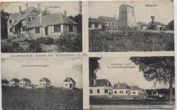 AK Gewerkschaft Amelie bei Wittelsheim Schacht Kantine Wohnungen Haut-Rhin Elsass Frankreich 1914 RAR