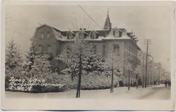 AK Foto Rengsdorf in der Pfalz Straßenansicht mit Haus im Winter 1918 RAR