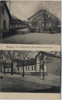 AK Grube Dudweiler Saarbrücken Menage mit Schlafhaus 1919 RAR