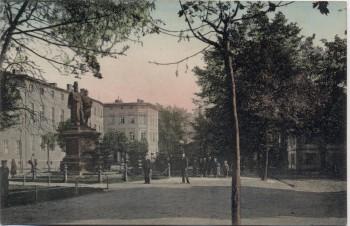 AK Sorau Żary Promenade mit 2 Kaiserdenkmal Neumark / Ostbrandenburg Polen 1910