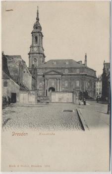 AK Dresden Blick auf die Kreuzkirche 1910