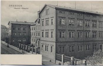VERKAUFT !!!   AK Dresden Materni-Hospital Freiberger Straße 1910 RAR