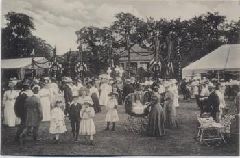 AK Aschersleben Sedanfest Volksfest viele Menschen 1910 RAR