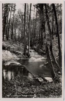 VERKAUFT !!!   AK Foto Kallies in Pommern Kalisz Pomorski Ansicht am Bach Polen 1940