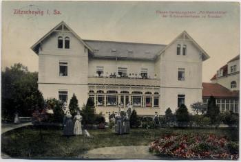 AK Zitzschewig Frauen-Genesungsheim Alt-Wettinhöhe bei Radebeul 1911