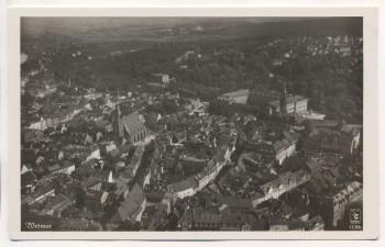 VERKAUFT !!!   AK Foto Weimar mit Kirche Fliegeraufnahme 11356 1940