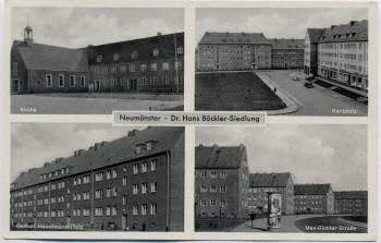 AK Mehrbild Neumünster Dr. Hans Böckler-Siedlung 1950