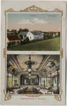 AK Augustusberg bei Nossen Gasthof Saal Rittergut 1923 RAR