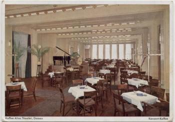 AK Dessau Kaffee Altes Theater Konzert-Kaffee 1937