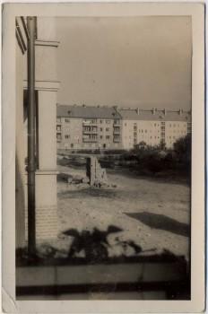 AK Foto Berlin Blick auf Häuser 1957