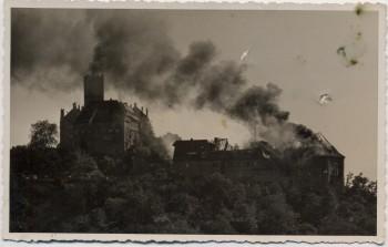 AK Foto Eisenach Wartburg Gasthof Großfeuer 1934 RAR