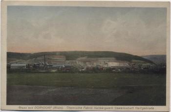 AK Gruss aus Dorndorf an der Werra Rhön Chemische Fabrik Kalibergwerk Gewerkschaft Heiligenrode 1910 RA
