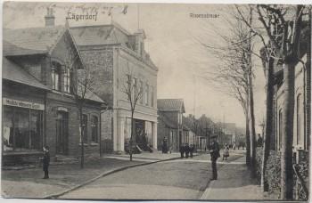 AK Lägerdorf Rosenstrasse Geschäft mit Menschen 1908 RAR