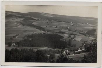 AK Foto Deschnei Deštné v Orlických horách Aussicht vom Spitzberg Adlergebirge Sudeten Tschechien 1938